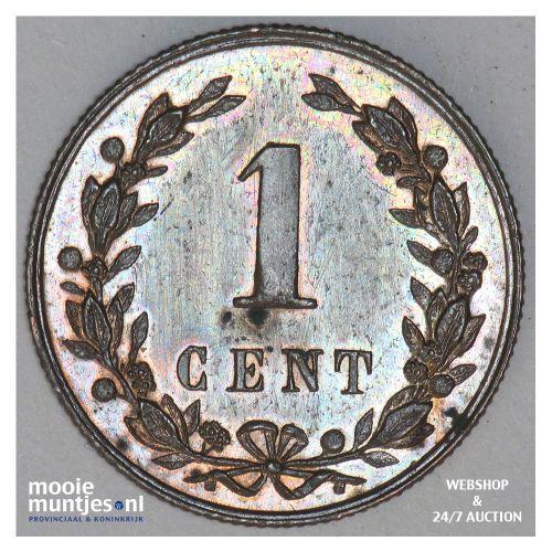 1 cent - Willem III - 1878 (kant B)