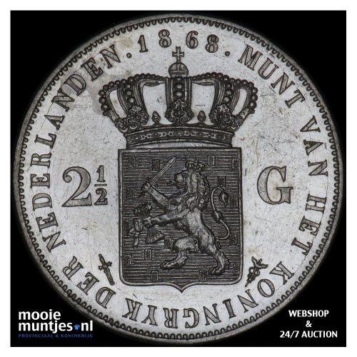 2½ gulden - Willem III - 1868 (kant A)