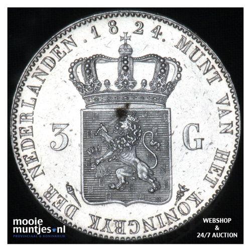 3 gulden - Willem I - 1824  (kant A)