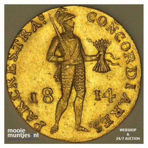 Gouden dukaat - Willem I - 1814 (kant A)
