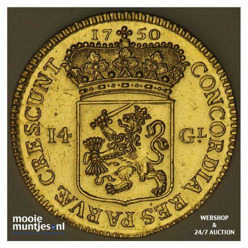 Utrecht - Gouden rijder, nieuw type - 1750 (kant A)