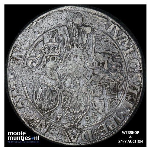 Driesteden - Gehelmde rijksdaalder   - 1583 (kant A)