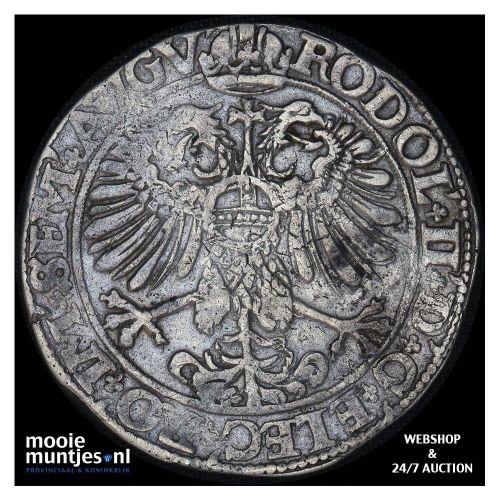 Driesteden - Gehelmde rijksdaalder   - 1583 (kant B)
