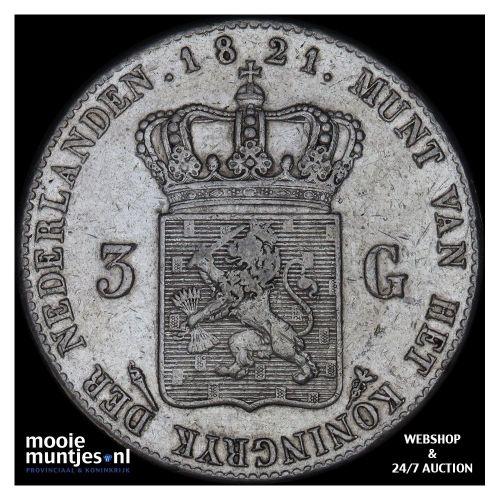 ½ gulden - Willem III - 1863 (kant A)