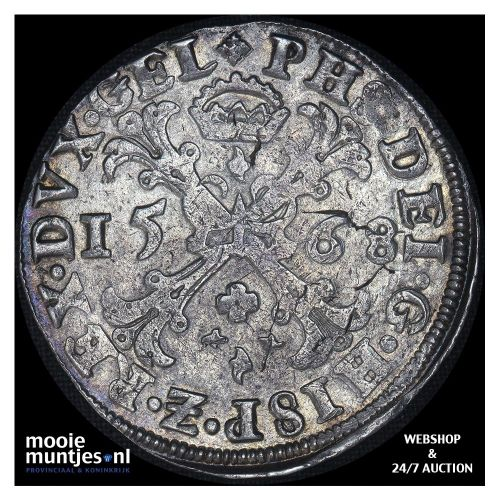 Gelderland - Bourgondische kruisrijksdaalder - 1568 (kant A)
