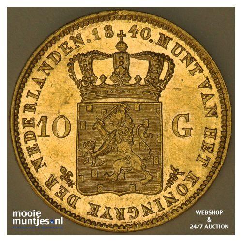 10 gulden - Willem I - 1840 (kant A)