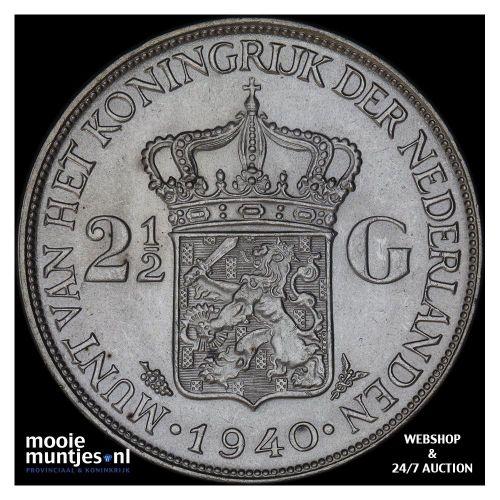2½ gulden - Wilhelmina - 1930 (kant A)