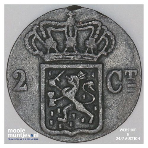 Nederlands-Indië - 2 cent - 1834 J (kant B)