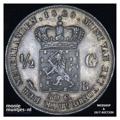 ½ gulden - Willem I - 1829 over 23 Brussel (kant A)