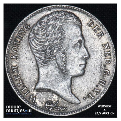 ½ gulden - Willem I - 1829 over 23 Brussel (kant B)