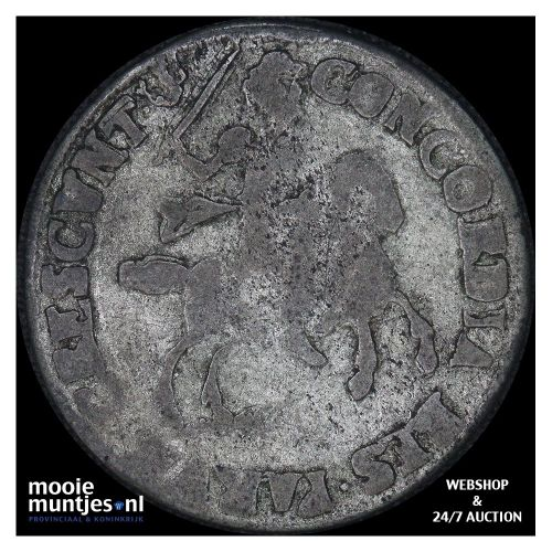 Groningen - Duit - 1674 (kant B)
