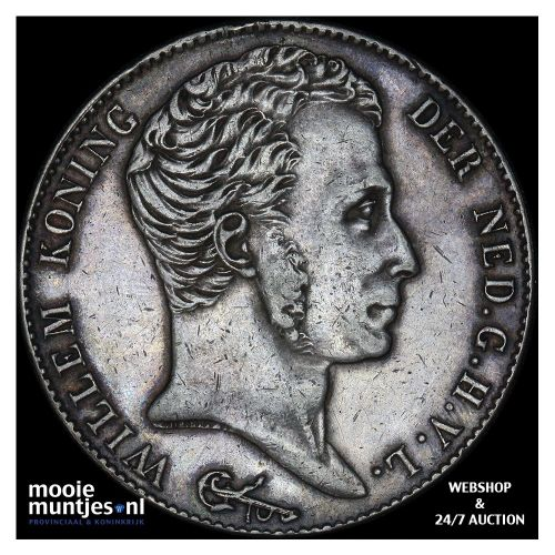 3 gulden - Willem I - 1824 c (streepje) (kant B)