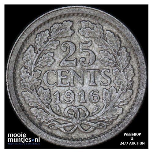 25 cent - Wilhelmina - 1892 (kant A)