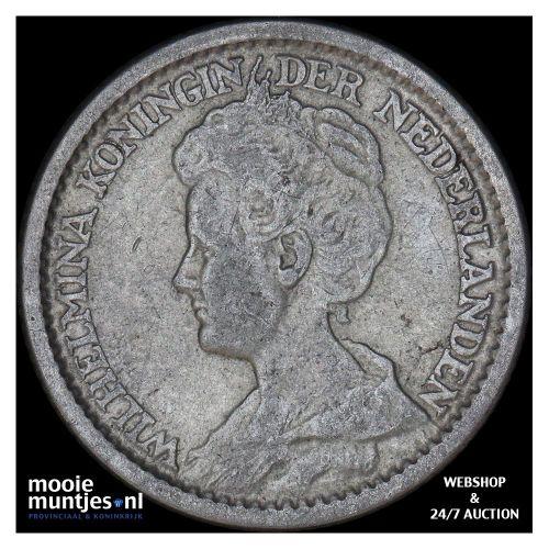 25 cent - Wilhelmina - 1892 (kant B)