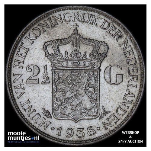 2½ gulden - Wilhelmina - 1931 (kant A)