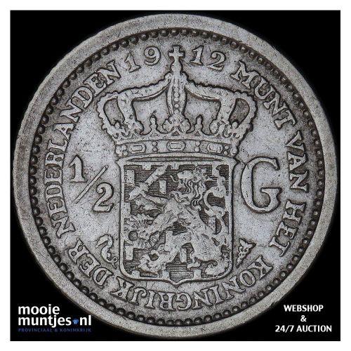 ½ gulden - Wilhelmina - 1904 (kant A)