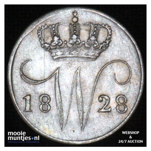 5 cent - Willem I - 1828 Brussel (kant A)