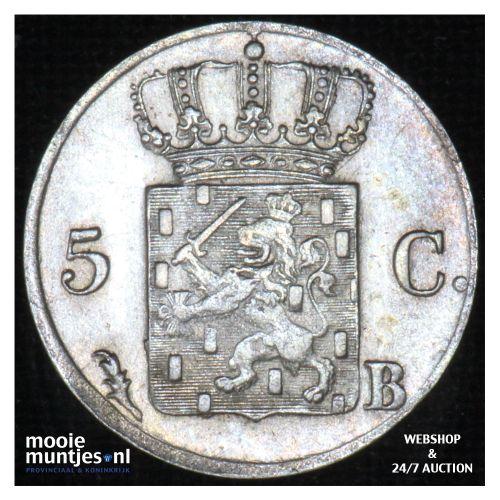 5 cent - Willem I - 1828 Brussel (kant B)