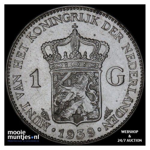 1 gulden - Wilhelmina - 1922 (kant A)