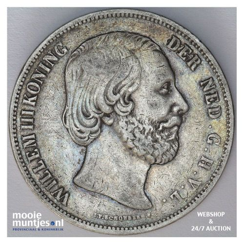 2½ gulden - Willem III - 1854 over 52 (kant B)