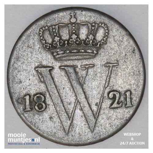 ½ cent - Willem I - 1821 Brussel (kant A)