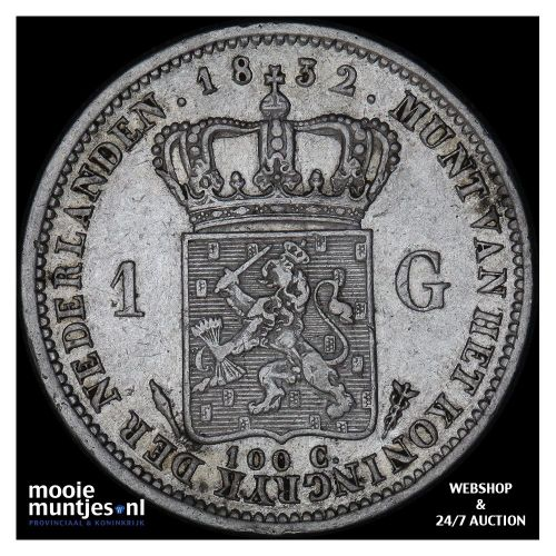 ½ gulden - Willem I - 1829 over 23 (kant A)