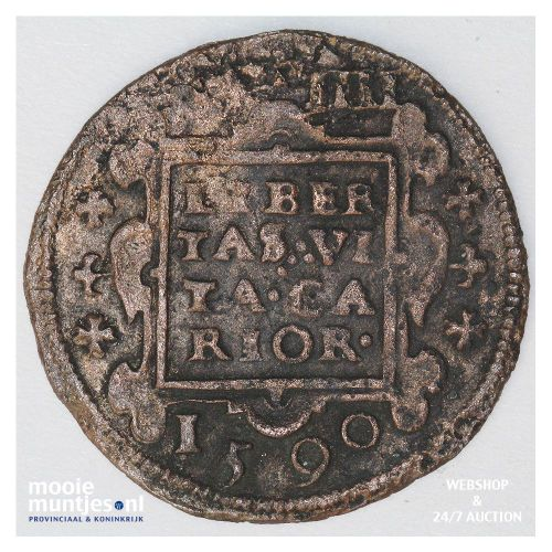 Culemborg - Oord of vier penningenstuk - 1590 (kant A)