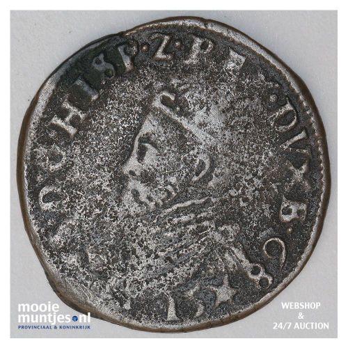 Brabant-Maastricht - Kwart stuiver of oord van 12 mijten - 1589 (kant A)