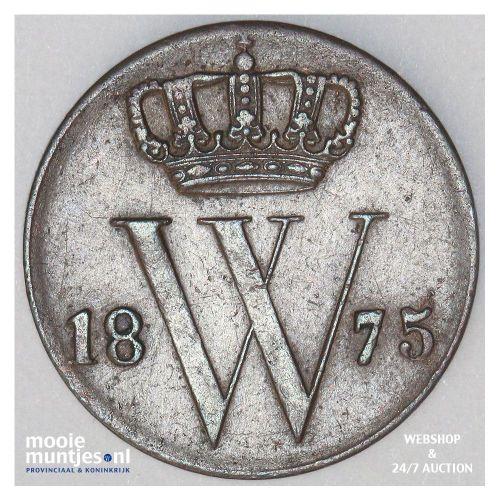 ½ cent - Willem III - 1875 (kant A)