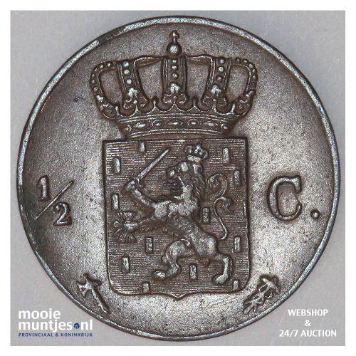 ½ cent - Willem III - 1875 (kant B)
