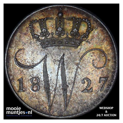 5 cent - Willem III - 1850 (kant A)