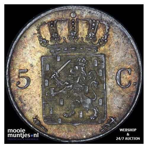 5 cent - Willem III - 1850 (kant B)