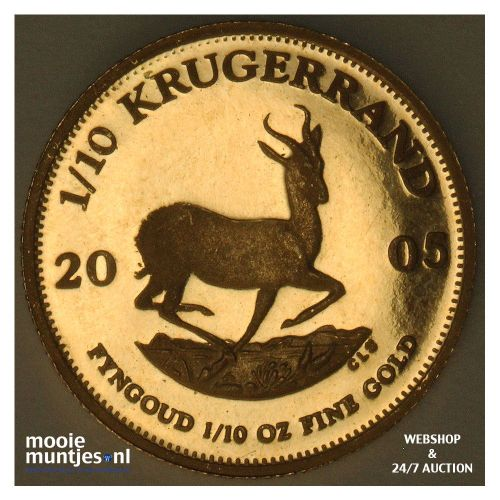 1/10 krugerrand - South Africa 2005 proof (KM 105) (kant A)