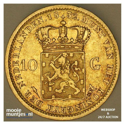 10 gulden - Willem I - 1832 Utrecht (kant A)