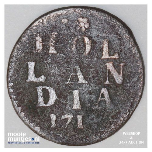 Holland - Duit - 1702 (kant A)