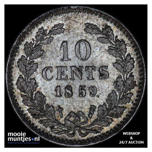10 cent - Willem III - 1885 (kant A)