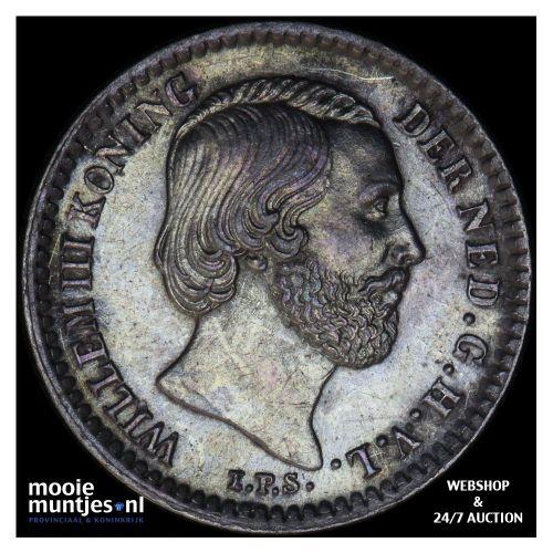 10 cent - Willem III - 1885 (kant B)