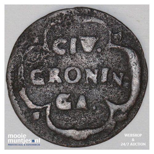 Stad Groningen - Duit - 1690 (kant B)