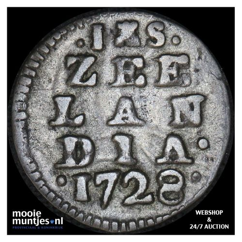 Zeeland - Stuiver - 1728 (kant A)