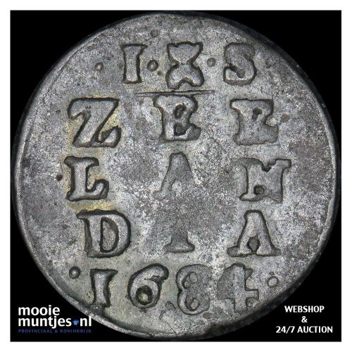Zeeland - Stuiver - 1684 (kant A)