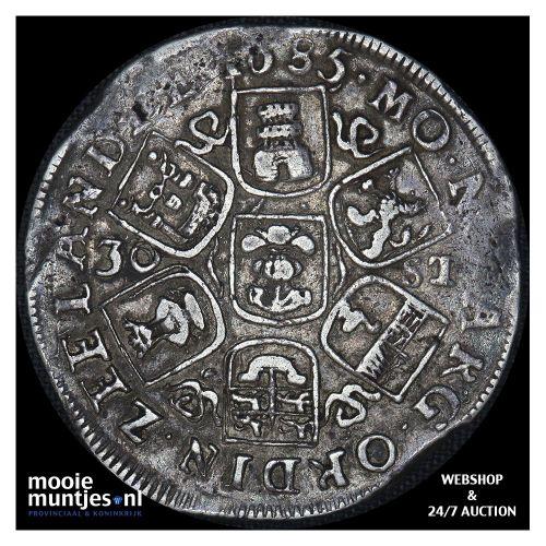 Zeeland - Daalder van 5 schelling - 1686 (kant A)
