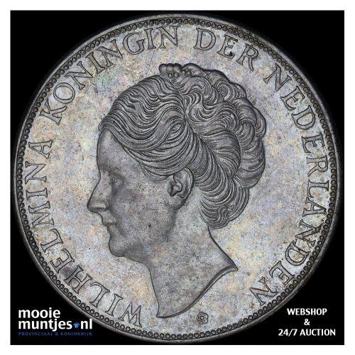 2½ gulden - Wilhelmina - 1938 b (grof haar) (kant B)