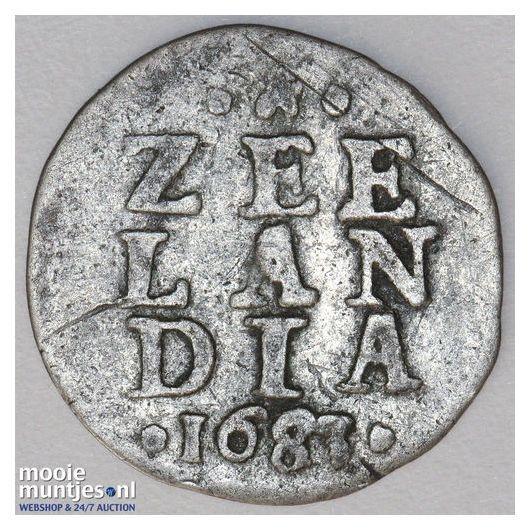 Zeeland - Dubbele wapenstuiver - 1683 (kant A)