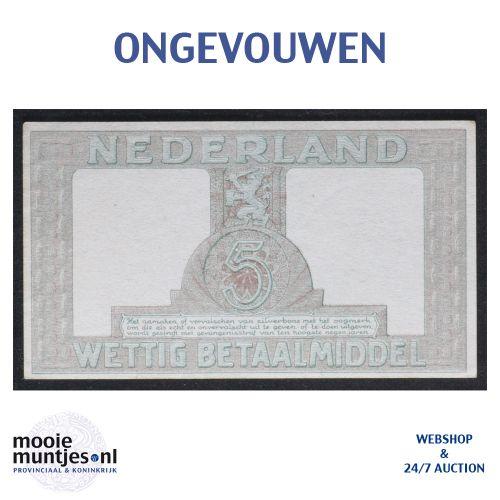 5 gulden - 1944 (Mev. 22-1a / AV 17) (kant B)