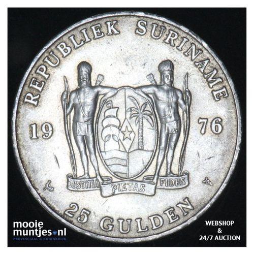 Suriname (republiek)  - 25 gulden - 1976 (kant A)