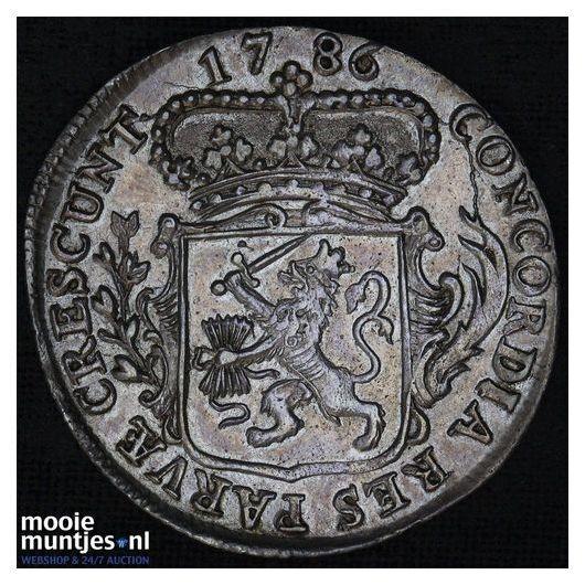 Zeeland - Kwart dukaat  - 1786 (kant A)