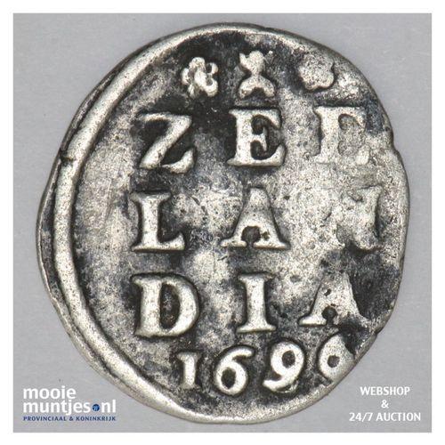 Zeeland - Dubbele wapenstuiver - 1699 over 86 (kant A)