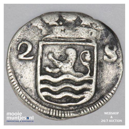 Zeeland - Dubbele wapenstuiver - 1699 over 86 (kant B)