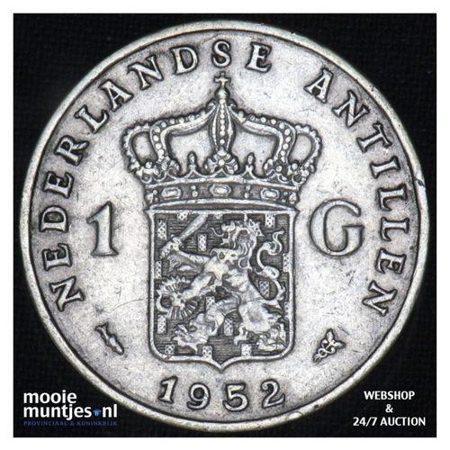 Nederlandse Antillen  - 1 gulden - 1852 (kant A)