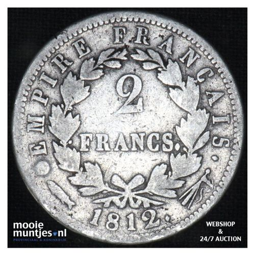 2 francs - Keizer Napoleon I - 1812 (kant A)